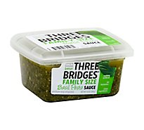 Three Bridges Family Size Sauce Pesto Basil - 10 Oz