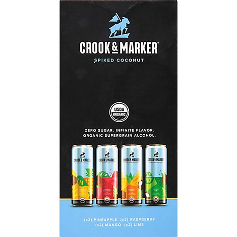 Crook&Marker Coconut Variety Pack In Cans - 8-12 Fl. Oz.