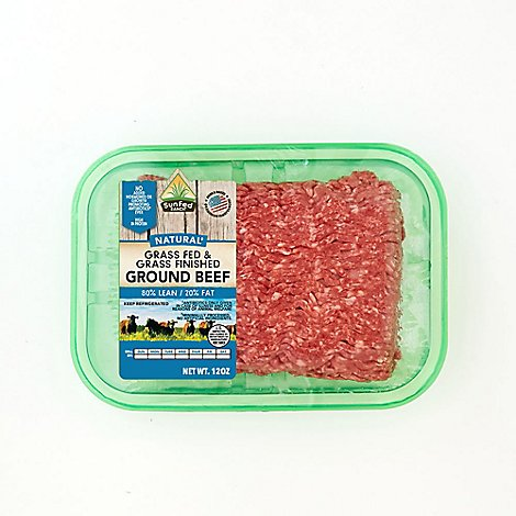 SunFed Ranch grass fed and grass finished natural ground beef 80% lean 12 Oz