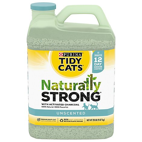 Purina Tidy Cats Cat Litter Naturally Strong - 20 Lb