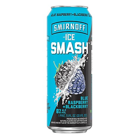 Smirnoff Ice Smash Blue Raspberry Blackberry In Cans - 23.5 Fl. Oz.