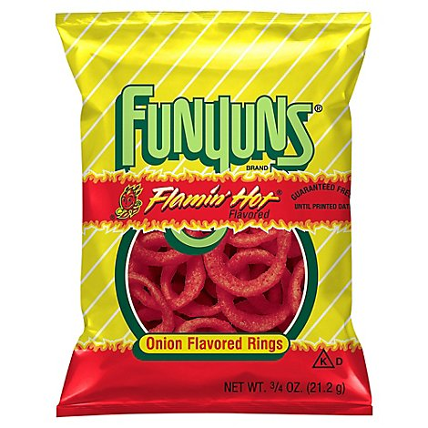 Funyuns Flamin Hot Onion Flavored Rings Plastic Bag - .75 Oz