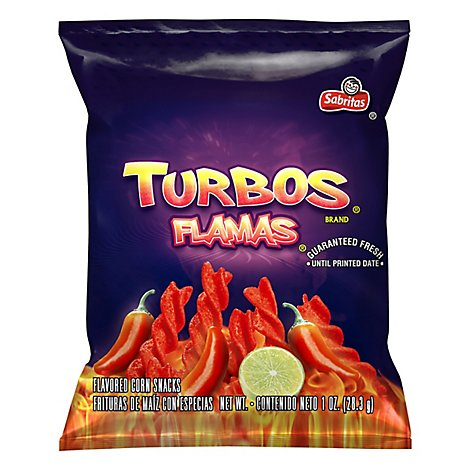 Turbos Flamas Corn Snacks Plastic Bag - 1 Oz