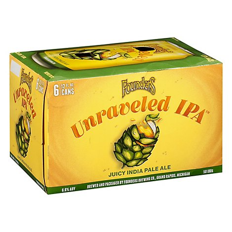 Founders Unraveled Juicy Ipa In Cans - 6-12 Fl. Oz.