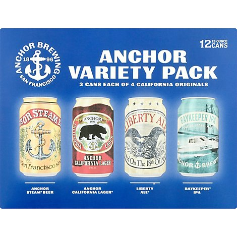 Anchor Brewing Variety Pk In Cans - 12-12 Fl. Oz.