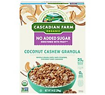 Cascadian Farm No Added Sugar Organic Coconut Cashew Organic Granola - 14 Oz