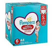 Pampers Cruisers Diapers 360 Fit 4.5x 6/Giant - 44 Count