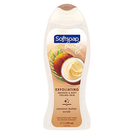Softsoap Coconut Butter Body Wash Scrub - 20 Oz