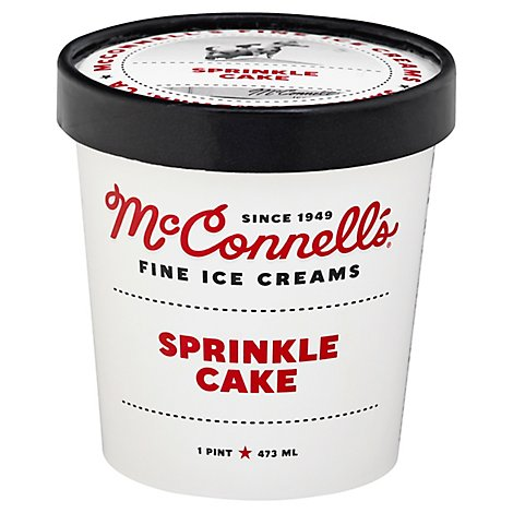 Mcconnells Fine Ice Cream Sprinkle Cake - Pint