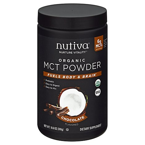 Nutiva Mct Powder Chocolate - 10.60 Oz