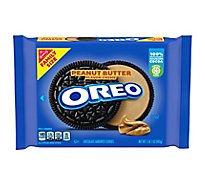 OREO Cookie Sandwich Chocolate Peanut Butter Family Size - 17 Oz