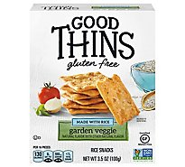 GOOD THINS Crackers Garden Veggie Rice Gluten Free - 3.5 Oz
