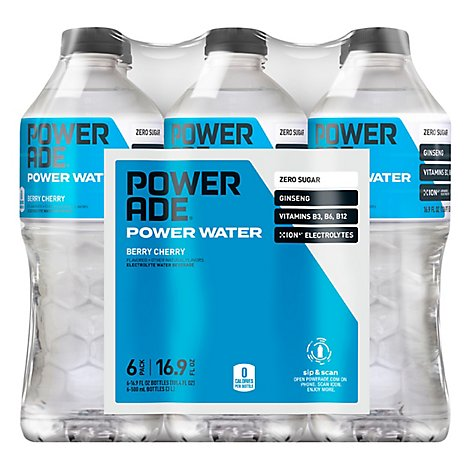 POWERADE Power Water Berry Cherry - 6-16.9 Fl. Oz.
