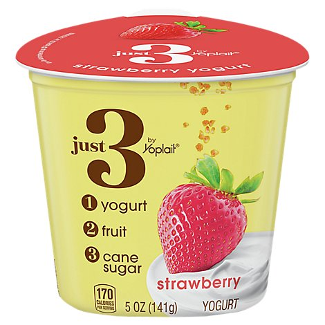 Yoplait Just 3 Strawberry Yogurt - 5 Oz