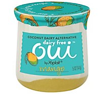 Oui By Yoplait Dairy Free Mango French Style Yogurt - 5 Oz