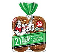 Daves Killer Bread Organic 8ct 21 Whole Grain And Seeded Bun - 18 Oz