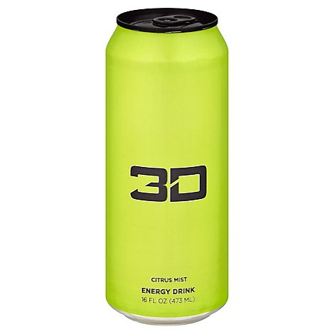 3d Drink Energy Green - 16 Fl. Oz.