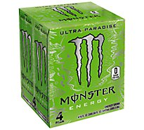 Monster Energy Drink Zero Sugar Ultra Paradise - 4-16 Fl. Oz.