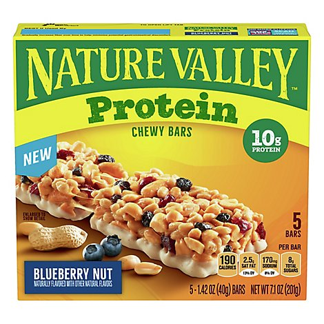 Nature Valley Protein Blueberry Almond Chewy Granola Bar - 7.1 Oz