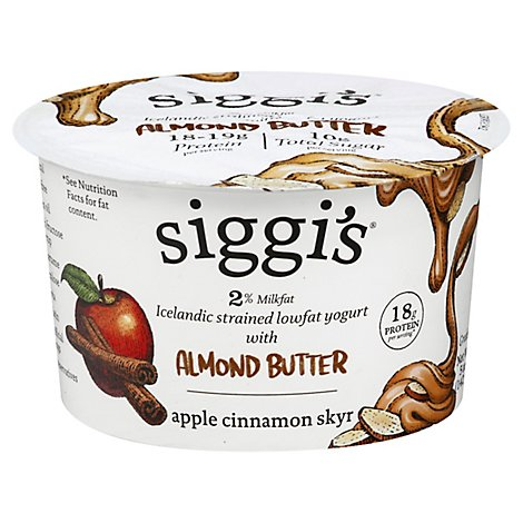 Siggis Apple Cinnamon Skyr Low Fat Yogur - 5 Oz