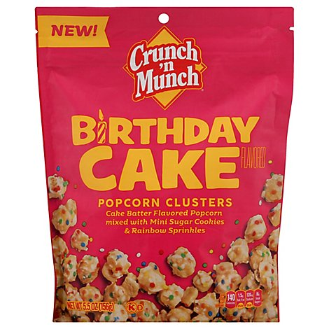 Crunch N Munch Birthday Cake Flavored Popcorn Clusters - 5.5 Oz