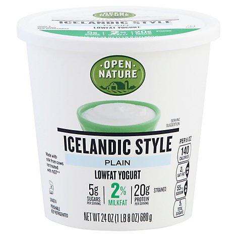 Open Nature Yogurt Icelandc Plain 2% - 24 Oz