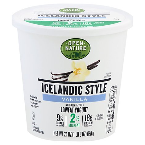 Open Nature Yogurt Icelandc Vanilla 2% - 24 Oz