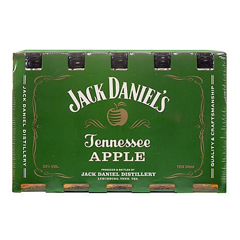Jack Daniels Whiskey Tennessee Apple Flavored 70 Proof - 50 Ml