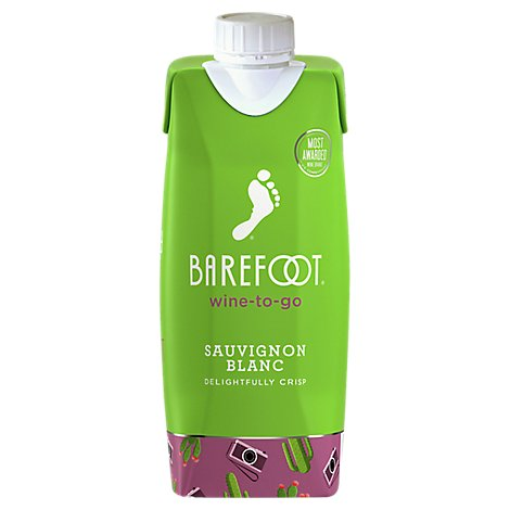 Barefoot Wine to go White Wine Sauvignon Blanc Delightfully Crisp Tetra Pak - 500 Ml