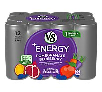 V8 +Energy Juice Pomegranate Blueberry Juice - 12-8 Fl. Oz.
