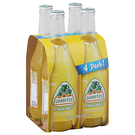 Jarritos Soda Premium Pineapple - 4-12.5 Fl. Oz.