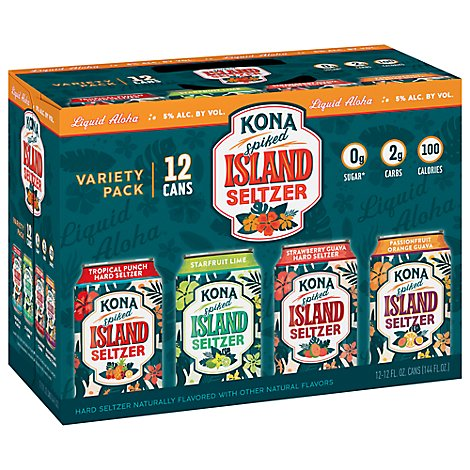Kona Hard Seltzer Variety Pack In Cans - 12-12 Fl. Oz.