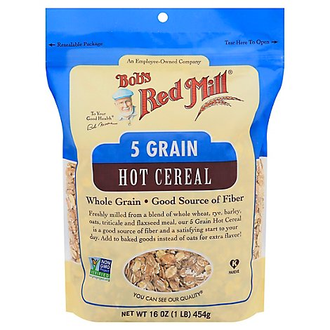 Bobs Red Mill Cereal Hot 5 Grain Whole Grain - 16 Oz