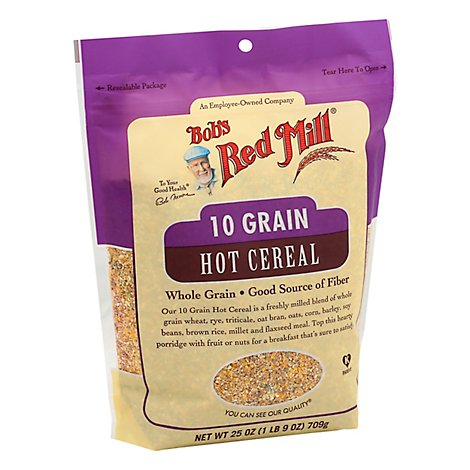 Bobs Red Mill Cereal Hot 10 Grain - 25 Oz