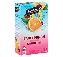 Signature Select Drink Mix Fruit Punch - 10 Count
