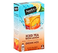 Signature Select Drink Mix Iced Tea Lemon - 10 Count