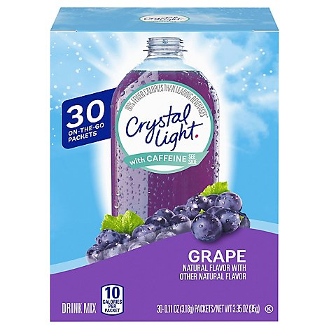 Crystal Light Grape On The Go Drink Mix - 3.35 Oz