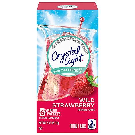 Crystal Light Wild Strawberry Drink Mix With Caffine - 2.53 Oz