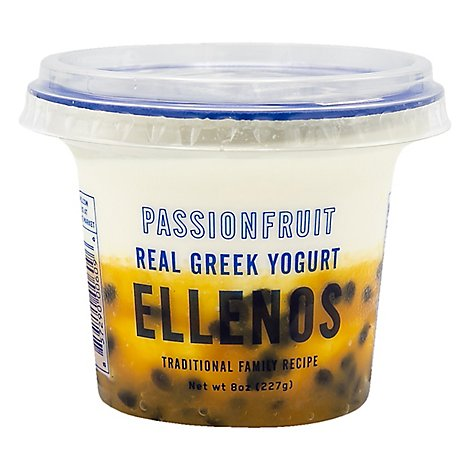 Ellenos Yogurt Greek Passion Fruit - 8 Oz