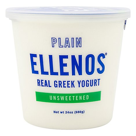 Ellenos Yogurt Greek Plain Unsweetened - 24 Oz