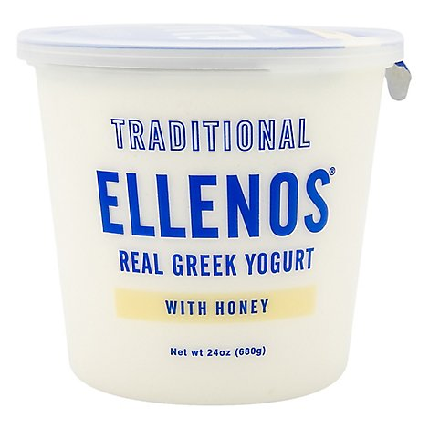 Ellenos Yogurt Greek Traditional With Honey - 24 Oz