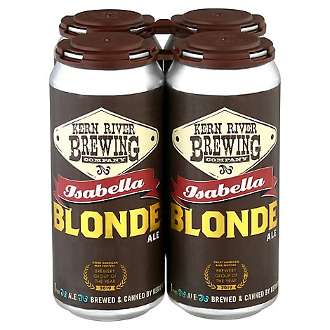 Kern River Brewing Company Isabella Blonde Ale In Cans - 4-16 Fl. Oz.