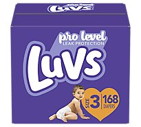 Luvs Diapers Pro Level Leak Protection Size 3 - 168 Count