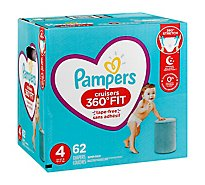 Pampers Cruisers Diapers 360 Fit Size 4 - 62 Count