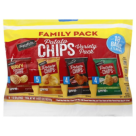 Signature Select Chips Potato Variety Pack - 18-1 Oz