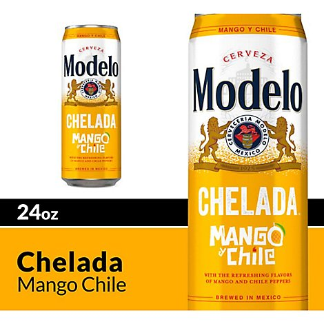 Modelo Chelada Mango Chile In Cans - 24 Fl. Oz.