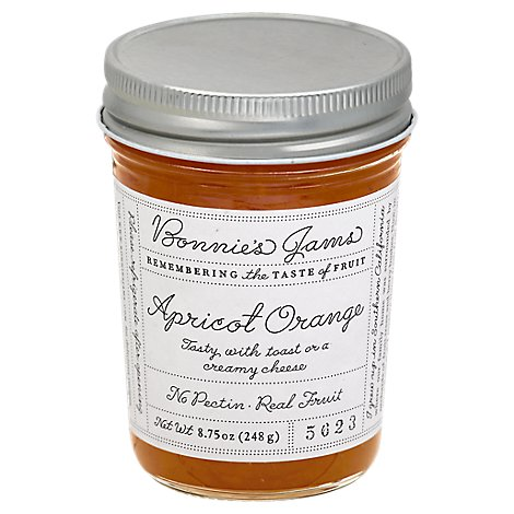 Bonnies Jams Jam Apricot Orange - 8.75 Oz
