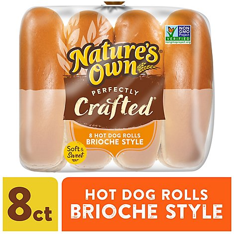 Natown Perfectly Crafted 8ct Brioche Hot - 18 Oz