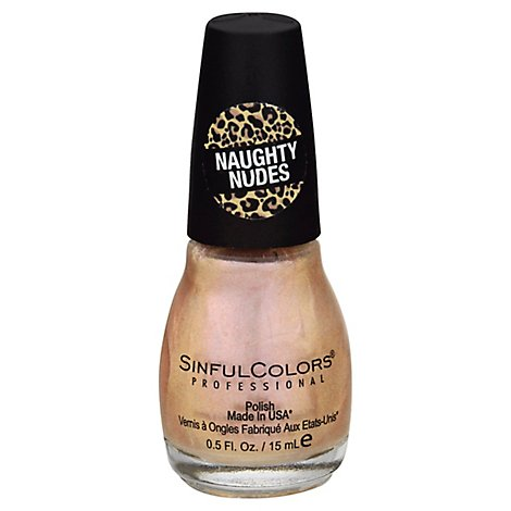SinfulColors Professional Nail Polish Naughty Nudes Tease - 0.5 Fl. Oz.