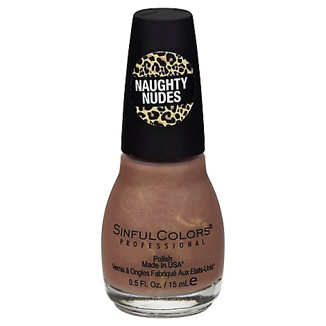 SinfulColors Professional Nail Polish Naughty Nudes Come Closer - 0.5 Fl. Oz.